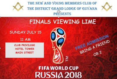 World Cup Finals: East Side Masonic Club